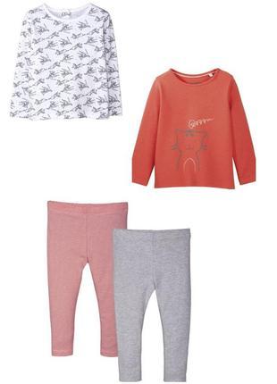 Набор одежды реглан лосины 4 шт lupilu германия р. 74 - 80