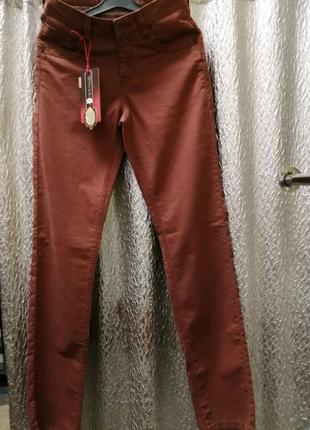 Шикарные cotton джинсы, терракот, Турции, размер 29,31,34