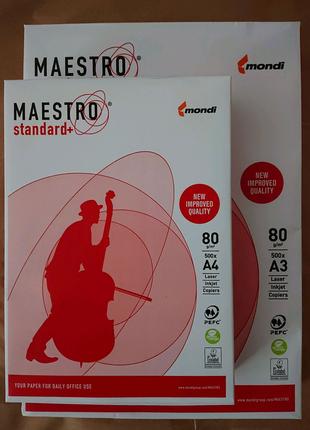 Папір А4 А3 Maestro Standard plus 80г/м2