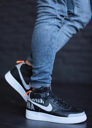 Черные мужские кроссовки nike air force 1 '07 lv8 hi
