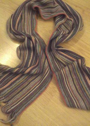 Мягкий трикотажный шарф в полоску