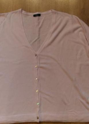 Джемпер кофта свитер нежно розового цвета большой размер