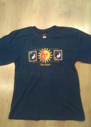 Натуральная футболка чикаго