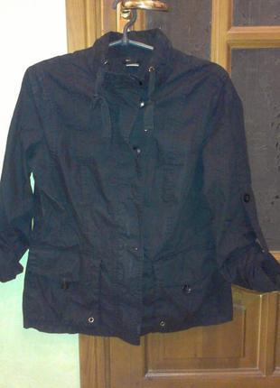 Натуральная легкая куртка ветровка на британский 14 размер