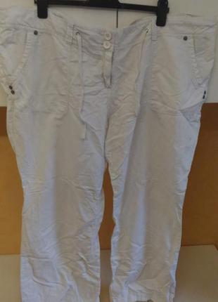 Натуральные легкие брюки штаны очень большого размера