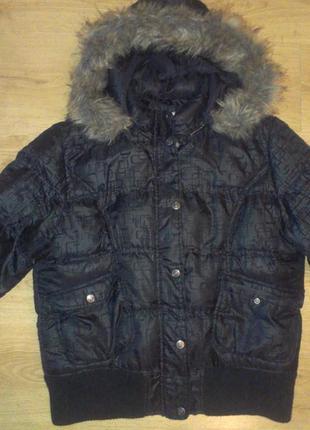 Распродажа! куртка зимняя теплая с трендовой вышивкой