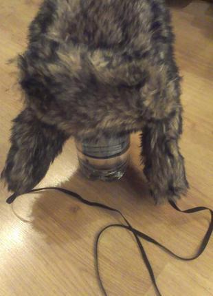 Брендовая меховая шапка ушанка topshop унисекс !!!+ подарок