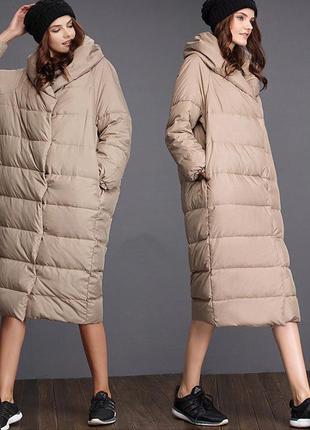 Шикарное женское пальто оверсайз oversize осень-зима кокон !!!...