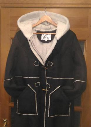 Распродажа! теплая дубленка куртка пальто большой размер германия