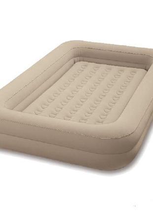Детская надувная флокированная кровать Intex