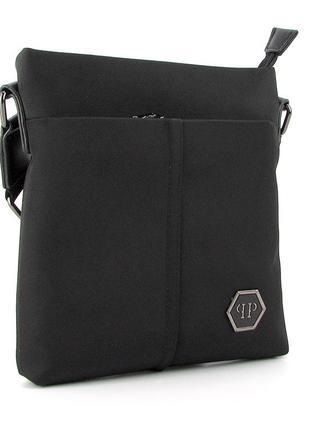 Мужская текстильная сумка через плечо на молнии