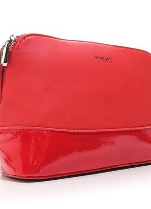 Красная маленькая сумочка через плечо кроссбоди на молнии
