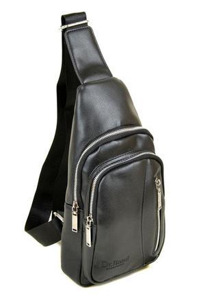 Рюкзак на одно плечо мужской слинг банан черный деловой
