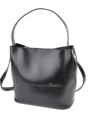 Женская сумка на плечо черная деловая молодежная