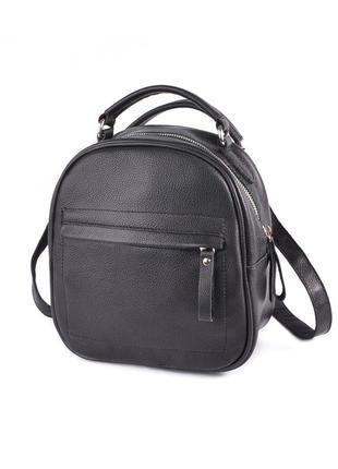 Маленький рюкзак трансформер сумка через плечо натуральная кожа