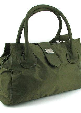 Зеленая дорожная текстильная сумка