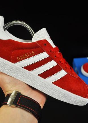 Кроссовки adidas gazelle арт 20734 (красные, адидас)
