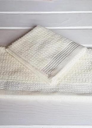 Полотенце махровое 30*50 см, цвет: молочный