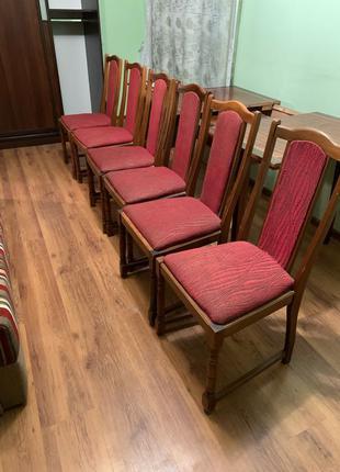 Комплект крісел 6 штук + стіл розкладний