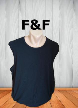 🍀🍀f&f мужская летняя футболка безрукавка черная 3xl🍀🍀🍀