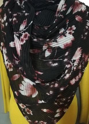 Шикарный шарф палантин жатка цветочный принт primark