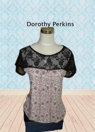 🌹🌹dorothy perkins стильная женская летняя футболка с кружевом ...