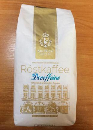 Кава без кофеїну в зернах Mr.Rich Decoffeine 500гр.