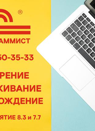 Программист 1С 8.3, 7.7, настройка, доработка, обслуживание