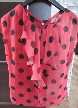 Шикарная легкая блуза новая