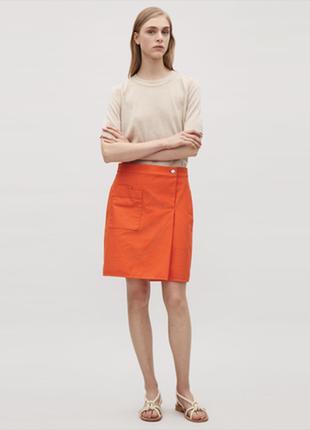 Яркая оранжевая юбка cos