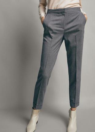 Шикарные серые брюки со стрелками нм