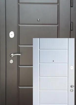 """Дверь входная """"Канзас двухцветная"""" металл 1,5 мм короб 100 мм"""