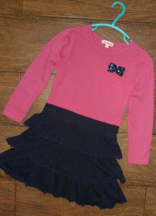 Трикотажное платье на 6-7 лет