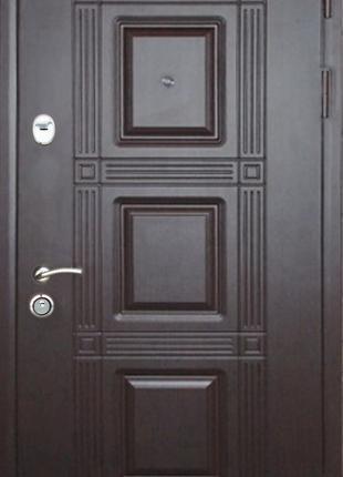 "Дверь вхдная ""Квадро"" металл 1,5 мм коробка 100 мм"