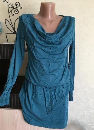 Красивое бирюзовое платье-туника edc by esprit размер см