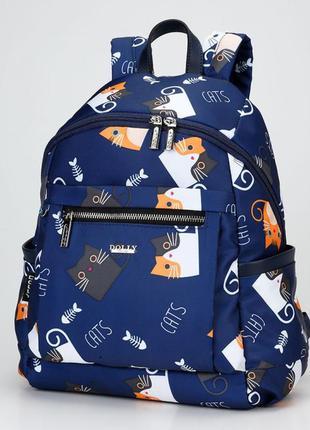 Стильный молодежный рюкзак с котиками