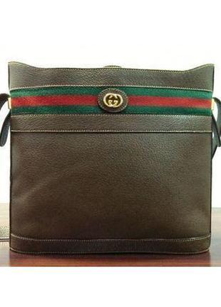 Gucci кожаная сумка через плечо