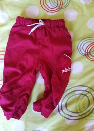 Спортивные штаны, adidas 9-12 мес 74-80 см