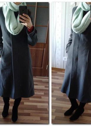 Пальто осень, зима, 2 в 1, шерсть, кашемир новое xs-s