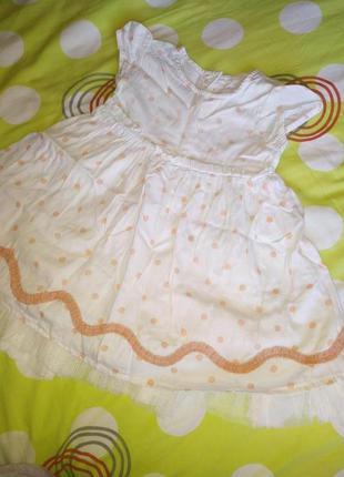 Платье 6-12 мес
