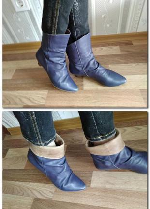 Сапожки. ботинки кожа 37-38 весна, осень