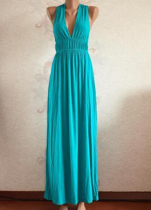 Большой выбор платьев - шикарное бирюзовое платье макси, плать...