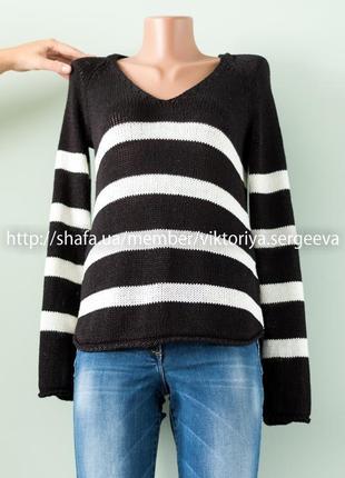 Большой выбор свитеров - базовый свитер в полоску