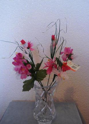 Искусственные цветы розовые букеты