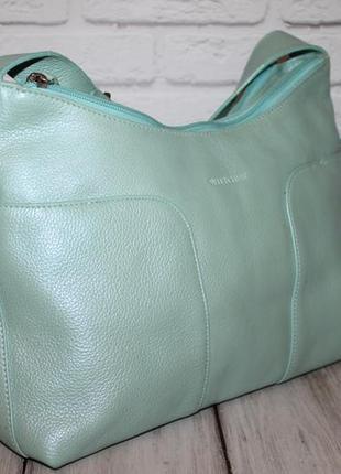 Кожаная сумка wittchen на три отделения 100% натуральная кожа