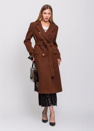 Скидка! стильное женское демисезонное коричневое бронзовое дли...