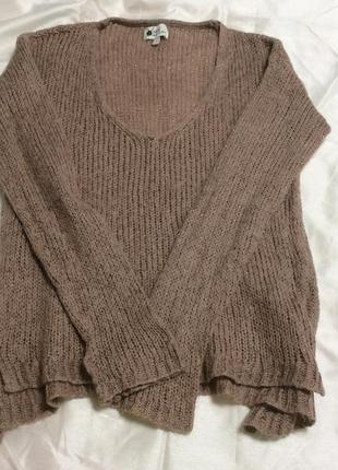 Большой выбор свитеров - тёплый красивый темно пудровый свитер...