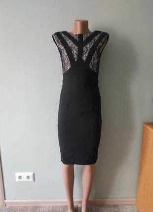 Большой выбор платьев - шикарное вечернее платье миди с кружевом