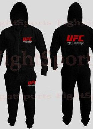 Спортивный костюм UFC BLACK NEW (на молнии) - оплата при ПОЛУЧ...