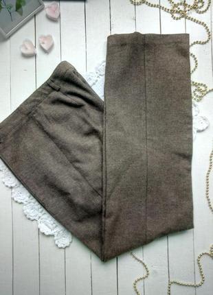 Классические корчневые брюки с шерстью